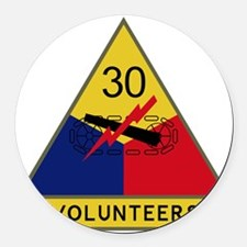 30th Armored Division - Volunteer Round Car Magnet