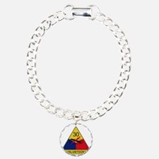 30th Armored Division -  Charm Bracelet, One Charm