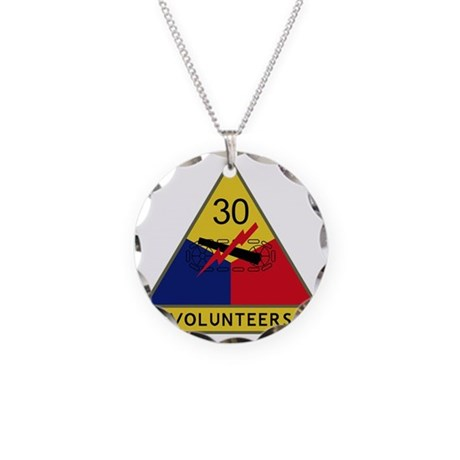 30th Armored Division - Volu Necklace Circle Charm
