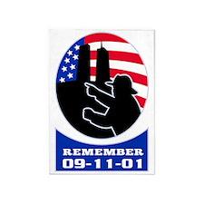 9-11 fireman firefighter american f 5'x7'Area Rug