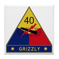 40th Armored Division - Grizzly Tile Coaster