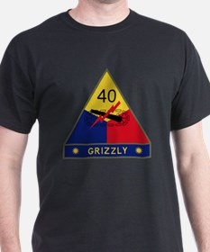 40th Armored Division - Grizzly T-Shirt