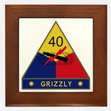 40th Armored Division - Grizzly Framed Tile