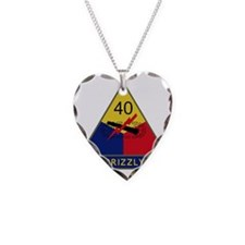 40th Armored Division - Grizz Necklace