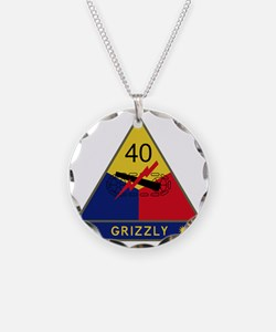 40th Armored Division - Griz Necklace