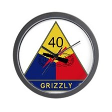 40th Armored Division - Grizzly Wall Clock