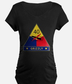 40th Armored Division - Gri T-Shirt