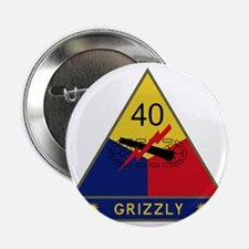 """40th Armored Division - Grizzly 2.25"""" Button"""