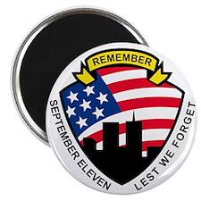 9-11 World Trade Center American Flag Shiel Magnet