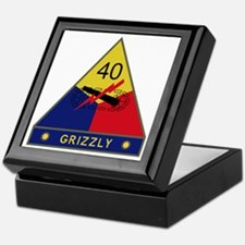 40th Armored Division - Grizzly Keepsake Box