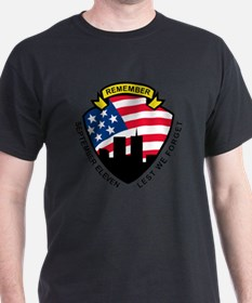 9-11 World Trade Center American Flag T-Shirt