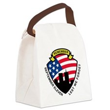 9-11 World Trade Center American  Canvas Lunch Bag