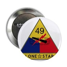 """49th Armored Division - Lone Star 2.25"""" Button"""