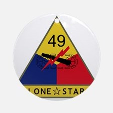 49th Armored Division - Lone Star Round Ornament