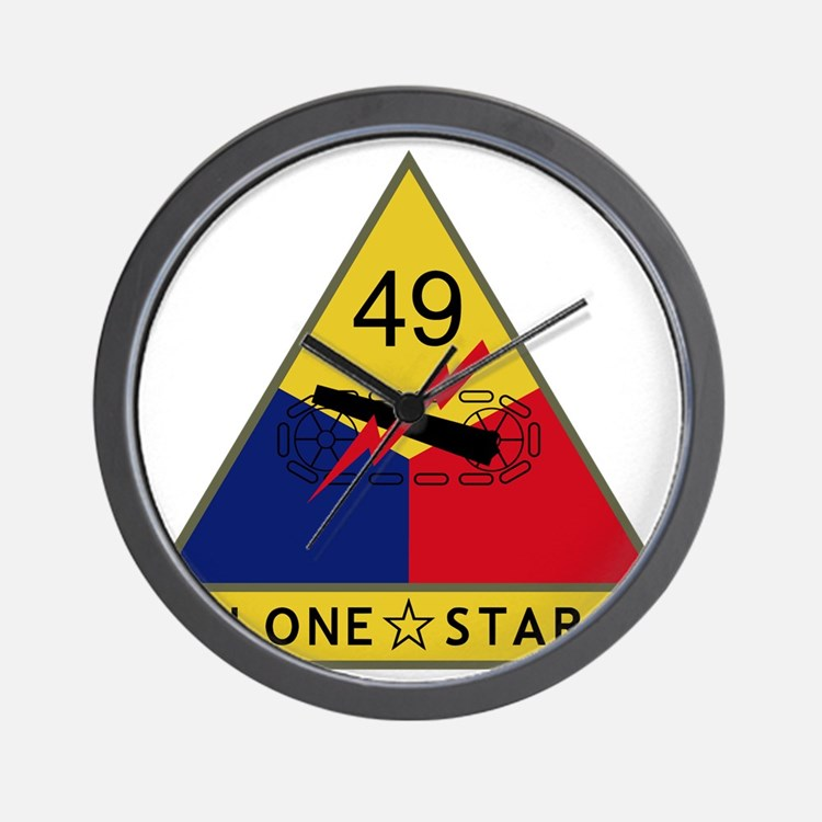 49th Armored Division - Lone Star Wall Clock