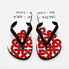 life-laugh-love-redhrt-blk Flip Flops