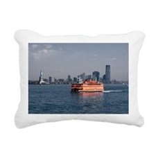 (3) Staten Island Ferry Rectangular Canvas Pillow