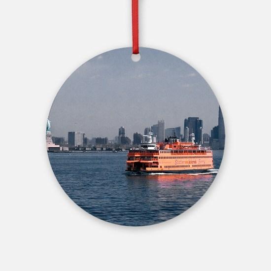 (2) Staten Island Ferry Round Ornament