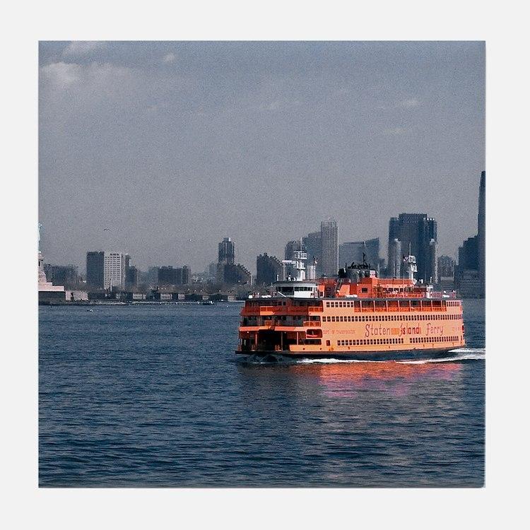 (2) Staten Island Ferry Tile Coaster