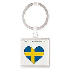 SwedeHeart2 Square Keychain