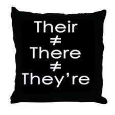 TheirThereTheyreWhite copy Throw Pillow
