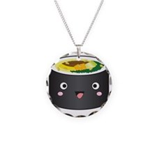 gimbap_kawaii Necklace Circle Charm
