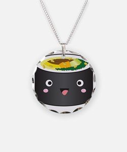 gimbap_kawaii Necklace Circle Charm