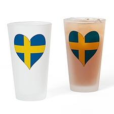 Heart-Plain Drinking Glass