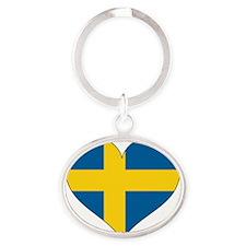 Heart-Plain Oval Keychain