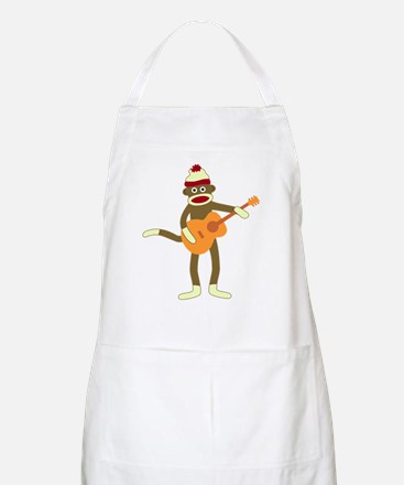 Sock Monkey Acoustic Guitar Player Apron