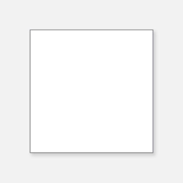 "Class of 2011 White Font Square Sticker 3"" x 3"""