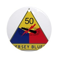 50th Armored Division - Jersey Blue Round Ornament