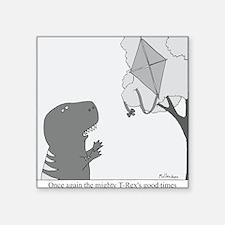 "T-Rex Good Times Square Sticker 3"" x 3"""