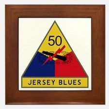 50th Armored Division - Jersey Blues Framed Tile
