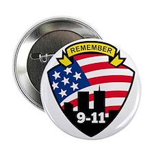 """9-11 World Trade Center American Flag 2.25"""" Button"""