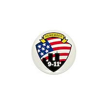 9-11 World Trade Center American Flag  Mini Button
