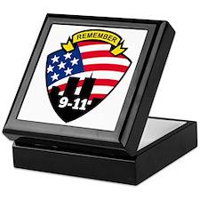 9-11 World Trade Center American Flag Keepsake Box
