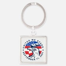 9-11 Eagle Head World Trade Center Square Keychain