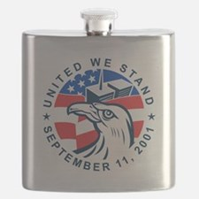 9-11 Eagle Head World Trade Center American  Flask