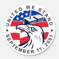 9-11 Eagle Head World Trade Cente Round Car Magnet