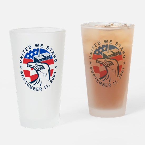 9-11 Eagle Head World Trade Center  Drinking Glass
