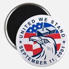 9-11 Eagle Head World Trade Center American Magnet