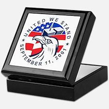 9-11 Eagle Head World Trade Center Am Keepsake Box