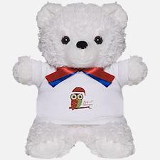 Baby's 1st Christmas Santa Owl Teddy Bear