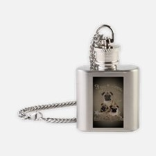 Cant have just one pug Flask Necklace