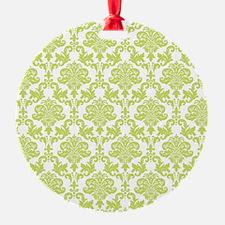 Green Damask Ornament