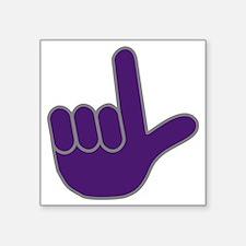 """Loser Hand.gif Square Sticker 3"""" x 3"""""""