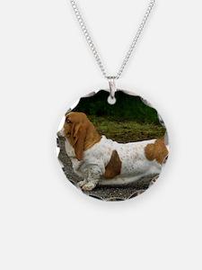 Basset Hound 9R037D-46 Necklace