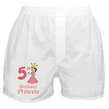 5th Birthday Princess Boxer Shorts