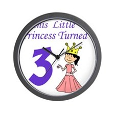 Little Princess Turned 3 Wall Clock